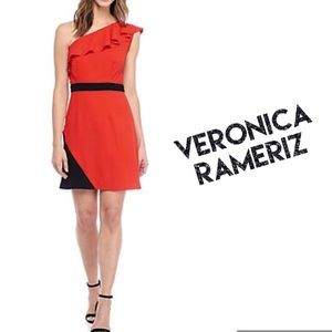 Red Black Dress VERONICA RAMERIZ  Dress NWT